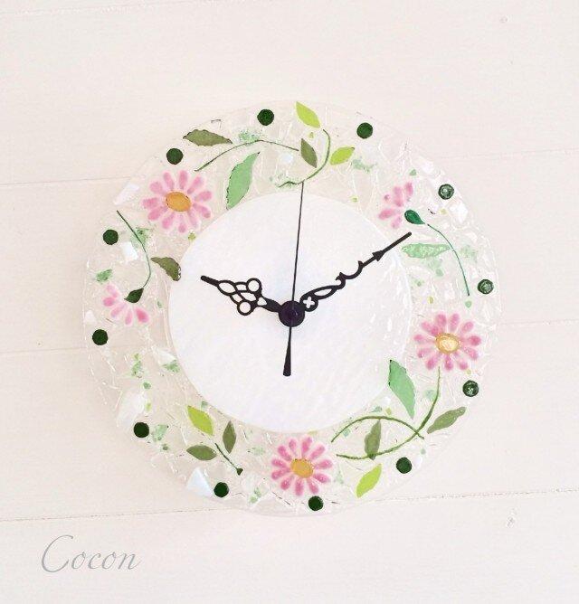 【即納】壁掛け時計(マーガレット・ピンク)の画像1枚目