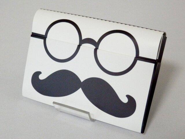 Paper Cardcase「ひげめがね」の画像1枚目