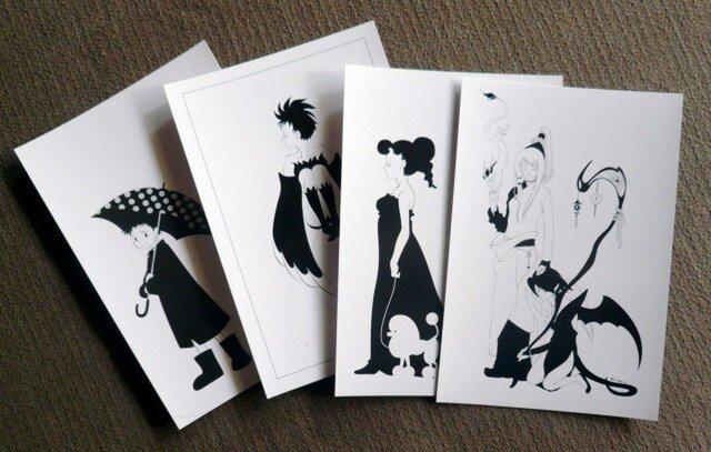 ポストカード4種セットの画像1枚目