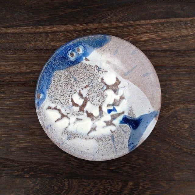 雨がらの小皿 W140 H14mmの画像1枚目