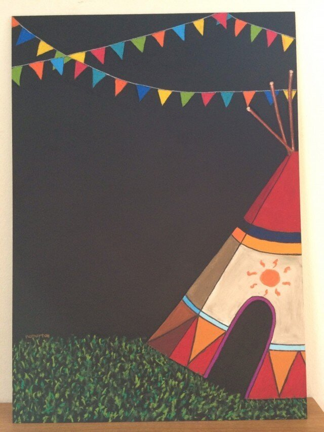 チョークアート テントの画像1枚目