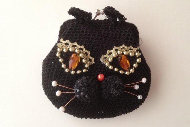 黒猫のがまぐちの画像1枚目