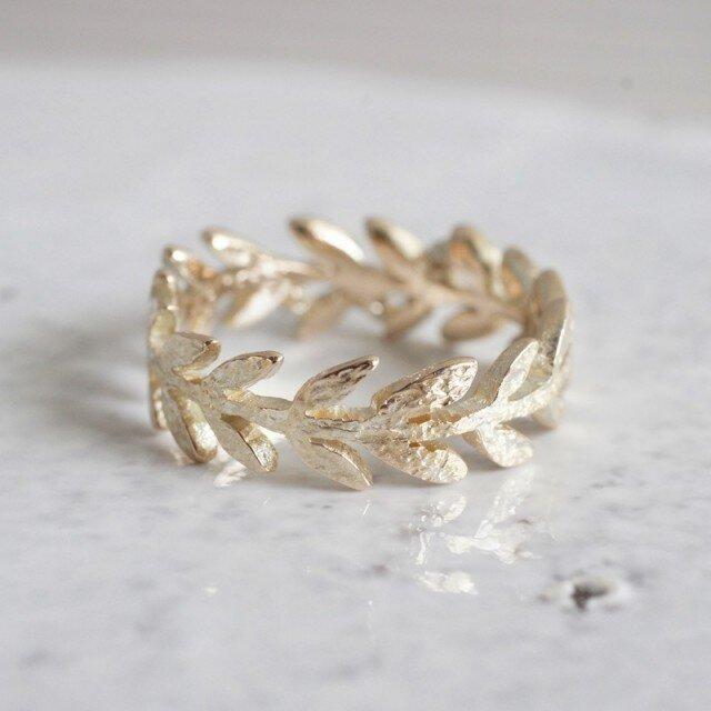 K10 Olive leaf ring{R066K10}の画像1枚目