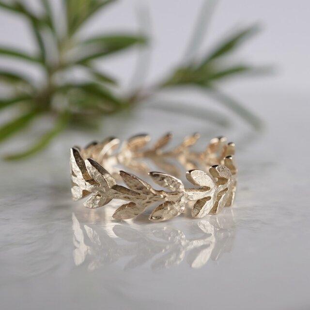 Olive leaf ring [R066K10]の画像1枚目