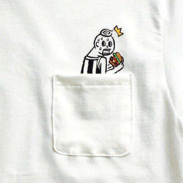 隠れハンバーガー ポケット付Tシャツの画像1枚目
