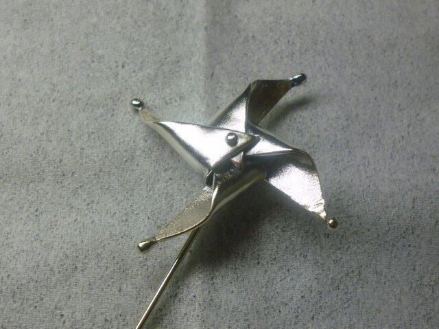 風車ピンブローチの画像1枚目