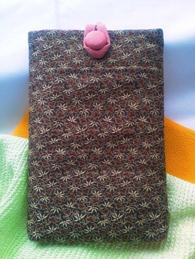 帯地で作った小物袋(紫竹 ピンク)の画像1枚目