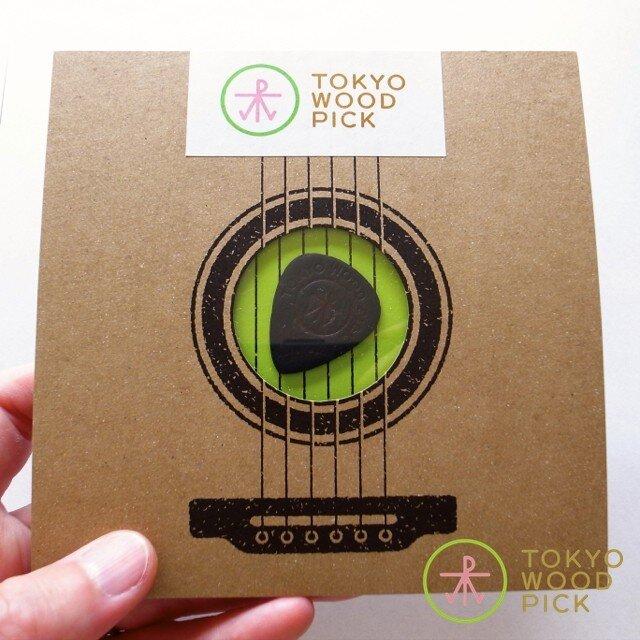 TOKYO WOOD PICK TearDrop Blackの画像1枚目