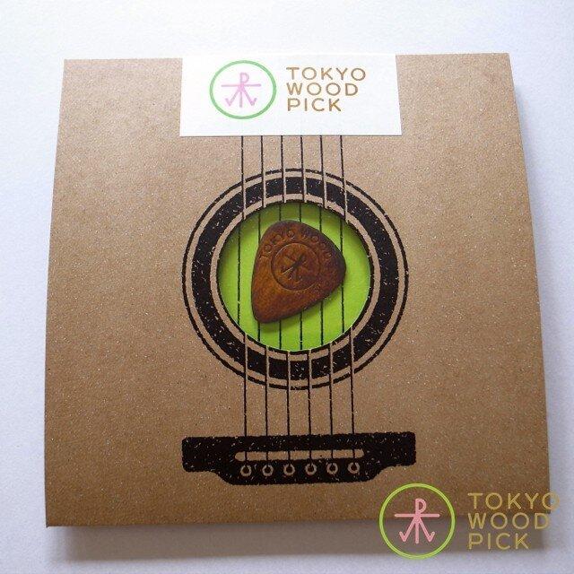TOKYO WOOD PICK TearDrop Brownの画像1枚目