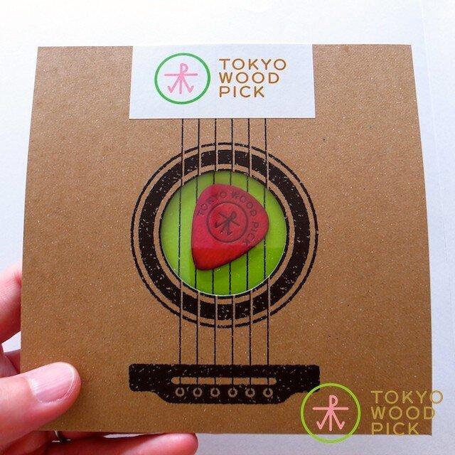 TOKYO WOOD PICK TearDrop Redの画像1枚目