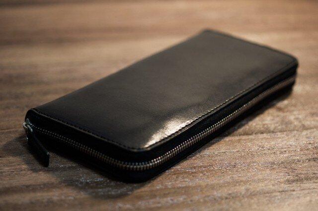 ファスナー長財布(ブラック)の画像1枚目