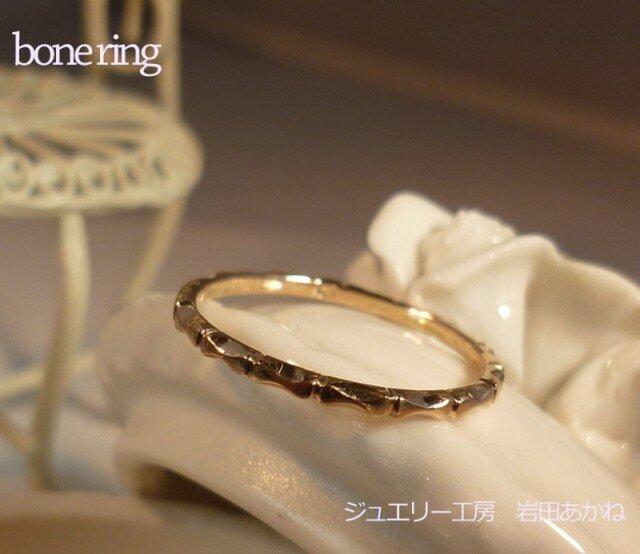 bone ring K10PG ピンキーリングの画像1枚目