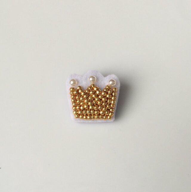 小さな王冠 ブローチの画像1枚目