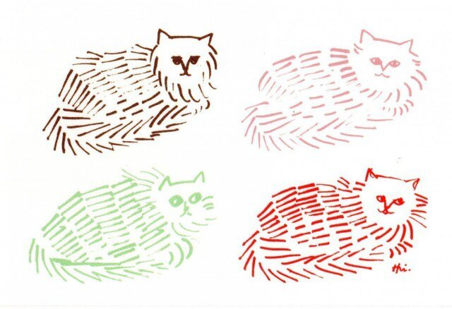 ポストカード 猫脈 2枚の画像1枚目