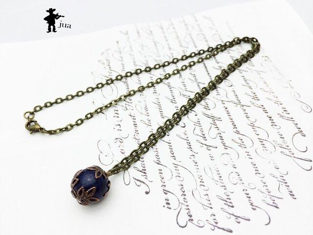 ラピスラズリのネックレスの画像1枚目