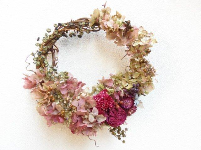 秋へ -ミナヅキとヤマゴボウと赤の花ーの画像1枚目