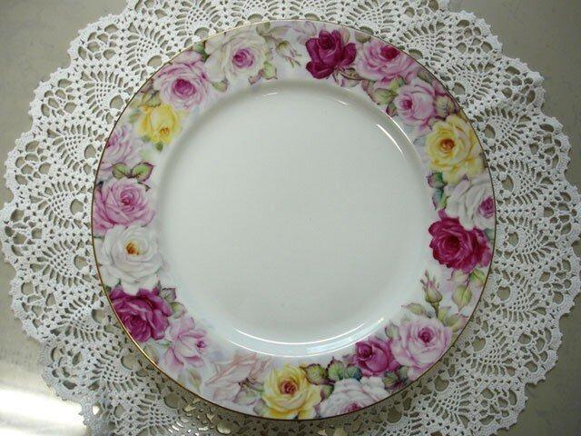 ぐるっと薔薇のリム大皿(1)の画像1枚目
