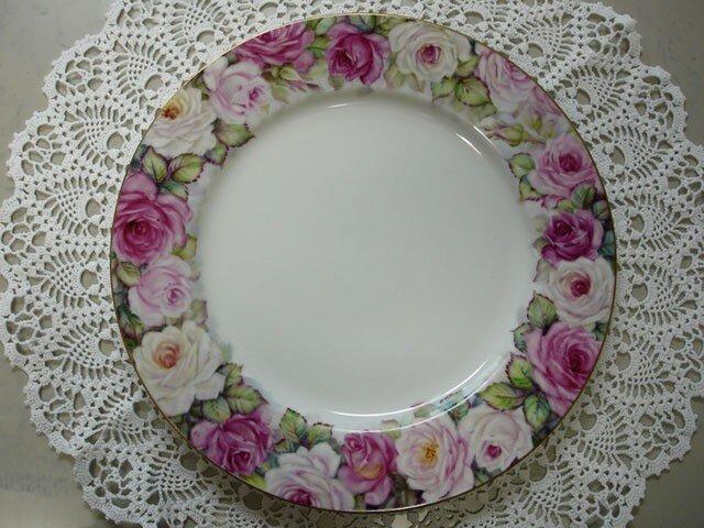 ぐるっと薔薇のリム大皿(2)の画像1枚目