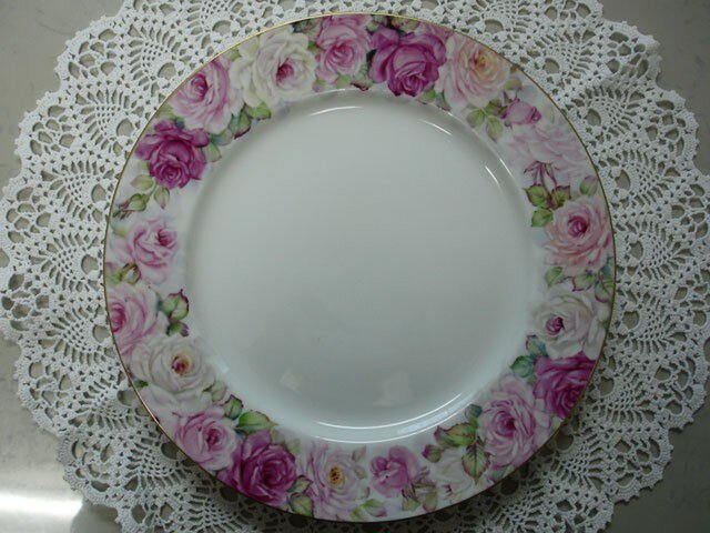 ぐるっと薔薇のリム大皿(3)の画像1枚目