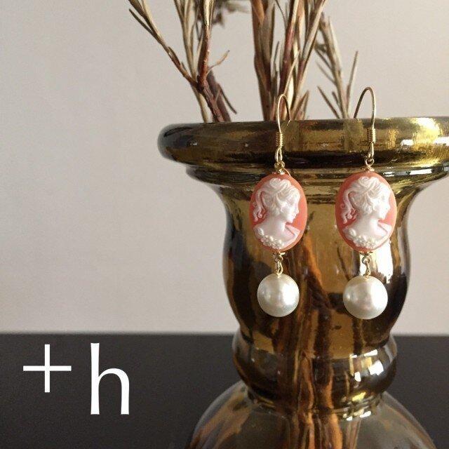 【ピアス】Cameo pierced earringsの画像1枚目