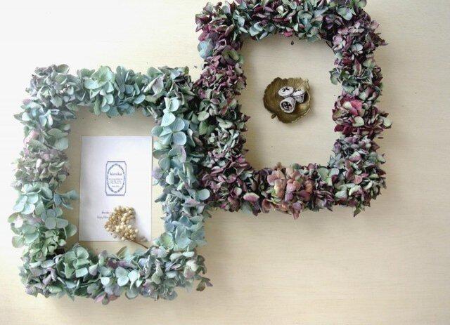 紫陽花のframe wreath-antique purple-の画像1枚目