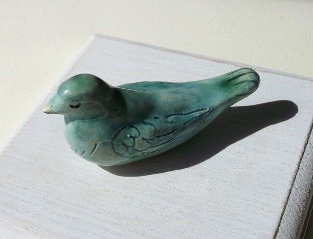 巣ごもり寝 青い鳥の画像1枚目