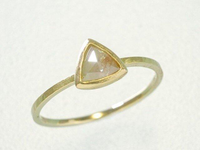 0.41ct オーガニック ダイヤモンド K14YG スタッキング リング『桃』の画像1枚目