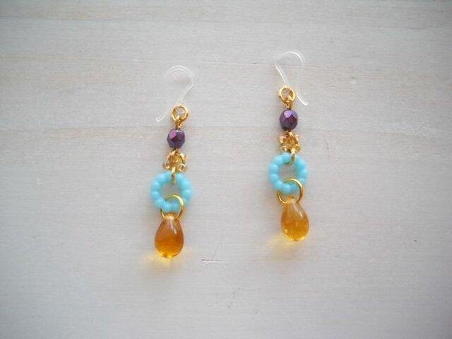 Candy drop pierced earringsの画像1枚目