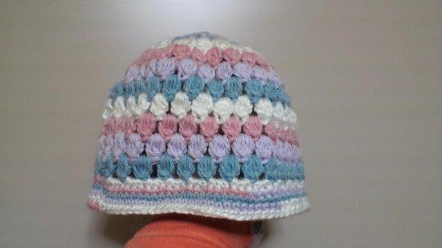 玉編みのニット帽の画像1枚目