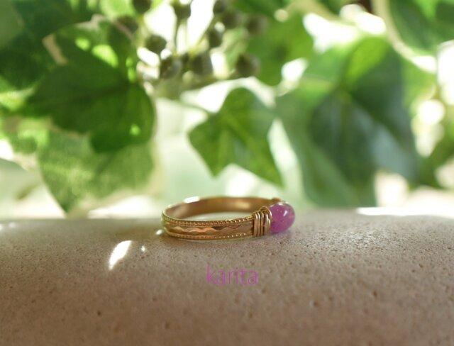 ピンクトルマリンの指輪の画像1枚目