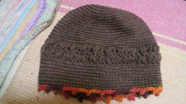 シンプルニット帽の画像1枚目