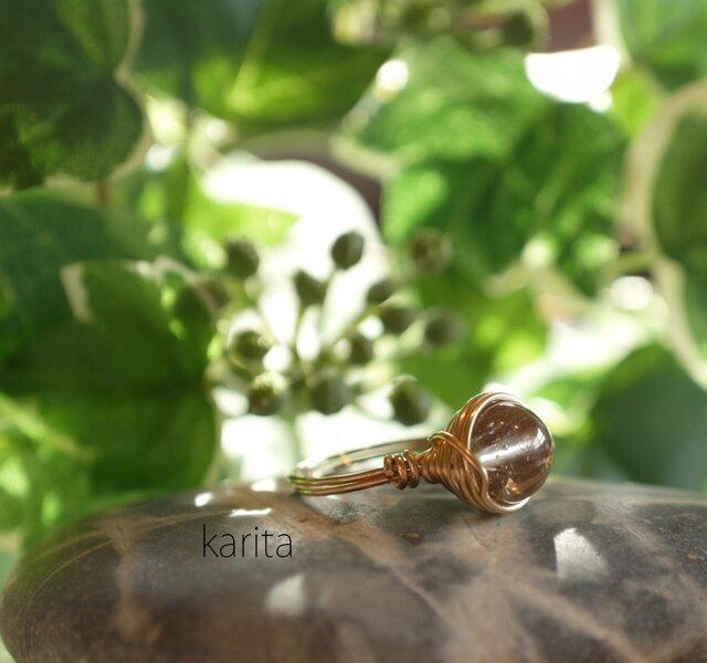 山梨クリスタルの指輪の画像1枚目