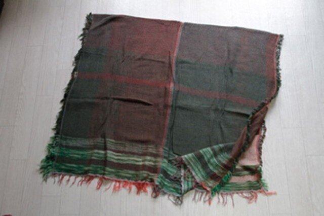 roots shawl BIG wool70 2-17の画像1枚目