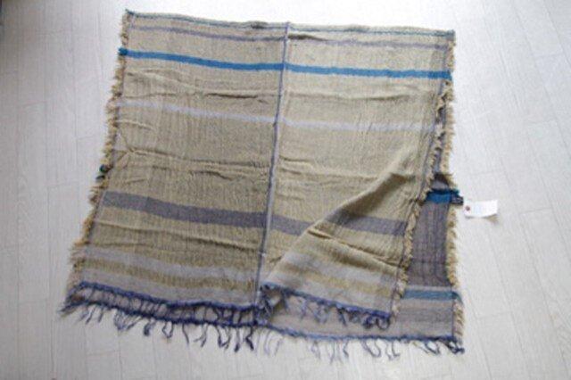 roots shawl BIG wool70 2-12の画像1枚目