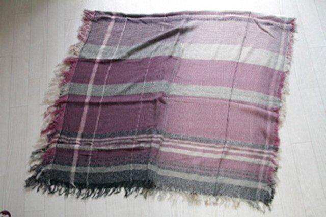 roots shawl BIG wool70 2-09の画像1枚目