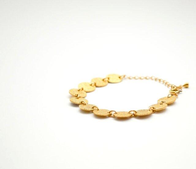 Circle Brass Plate Braceletの画像1枚目