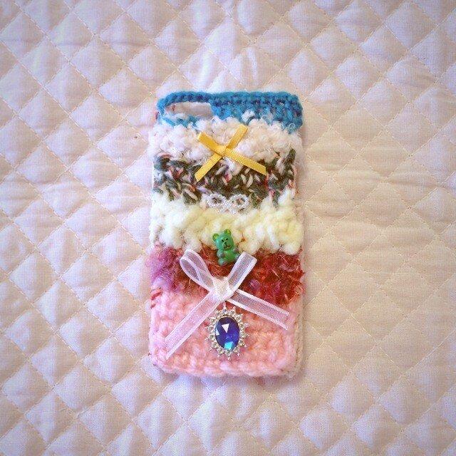 """ニットのiphoneケース""""小さな宝物""""(5/5S/5C)の画像1枚目"""