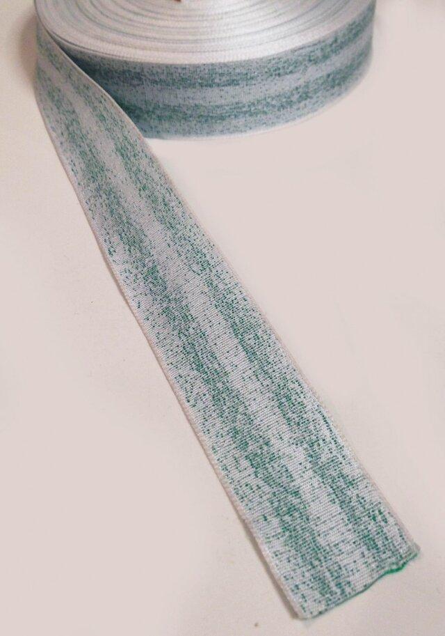 FrostyBlueウィンターリボン(幅25mm)の画像1枚目