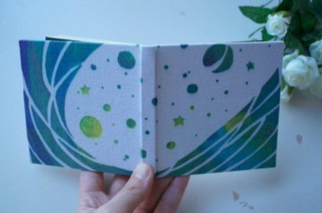 100のこと「宇宙時間」 型染め手帳の画像1枚目