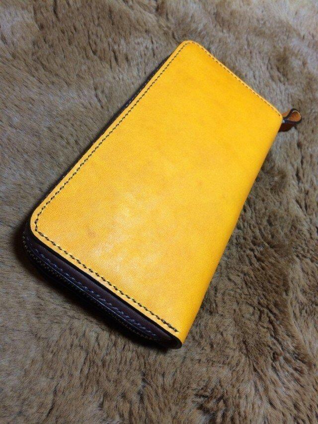 黄色長財布の画像1枚目