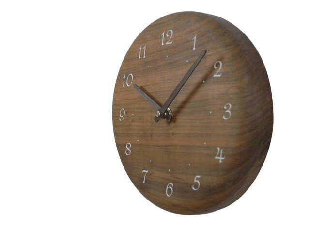 木の時計 レーザー加工 直径19㎝ Wa19AR-01の画像1枚目