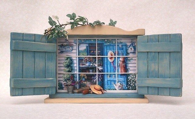 フォトフレーム風飾り棚「どこでも窓」BL の画像1枚目