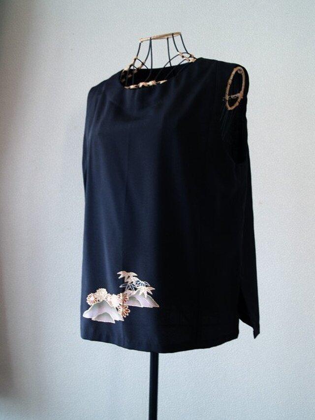 着物リメイク:留袖のベストの画像1枚目