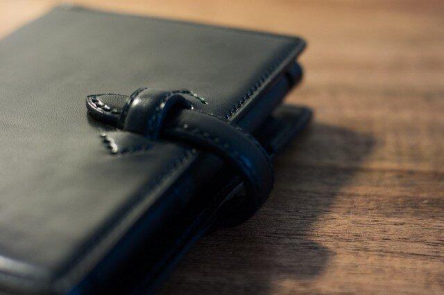 【ミニ6】革のシステム手帳 プレミアム・ブラックの画像1枚目