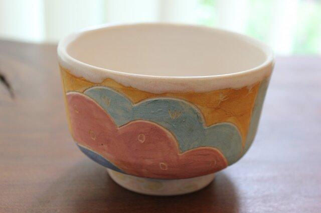 色化粧抹茶茶碗の画像1枚目