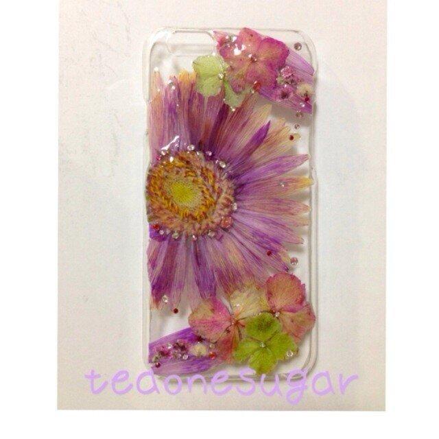08 iphone6/アンティーク押し花の画像1枚目