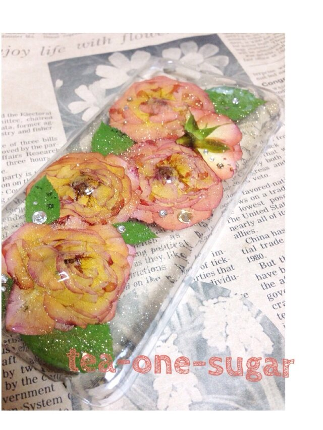 09 iPhone6/apricot roseの画像1枚目