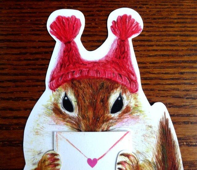 リスのお手紙ポストカードの画像1枚目