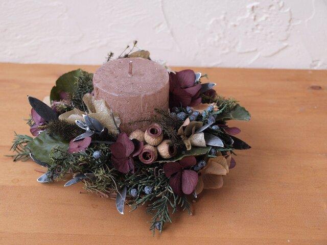 森のクリスマスキャンドルの画像1枚目