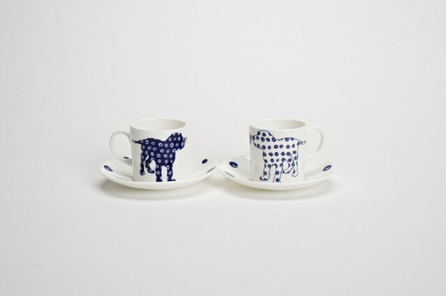 Pair Dog Coffee Cups 犬のペアコーヒーカップの画像1枚目